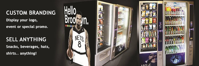 Custom branding for your NY vending machine