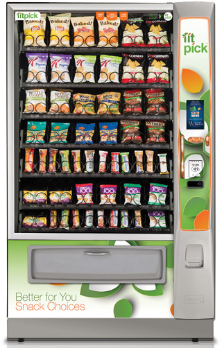 Intelfoods vending machine for a healthy choice for school in the United States of America