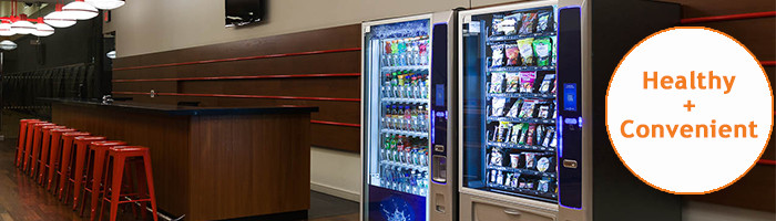 Healthy and convenient vending machines for gyms or dance studios businesses in NY