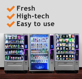 Manufacturing plants vending machines for a healthy and focus staff
