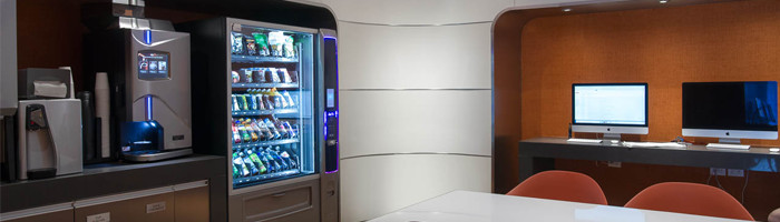 Vending machines installed in office in New York for a better work environment