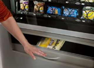 On-screen cart snack vending machine