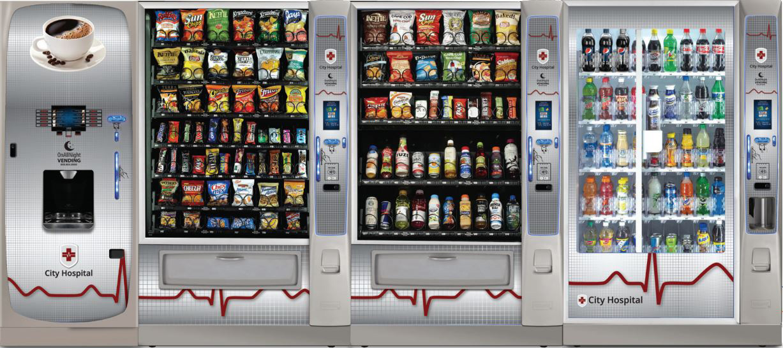 Hospital platform from Intelfoods vending machines in New York